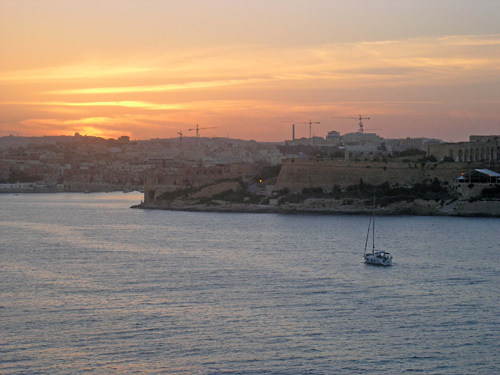 Sunset over Sliema